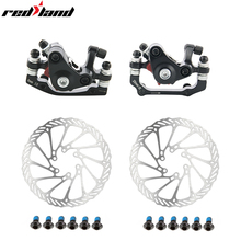 Mountain Bike brakes set Road Bike Bicycle Aluminum Alloy Mechanical Disc Brake Set Front & Rear Include 1pc 160mm bicycle 27 5 inches 24speed mountain bike aluminum alloy frame road bike front and rear mechanical disc brake spring fork