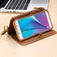 Floveme Leather Wallet Case Antique Business Phone Bag With Card Slot For Samsung Galaxy NOTE 3