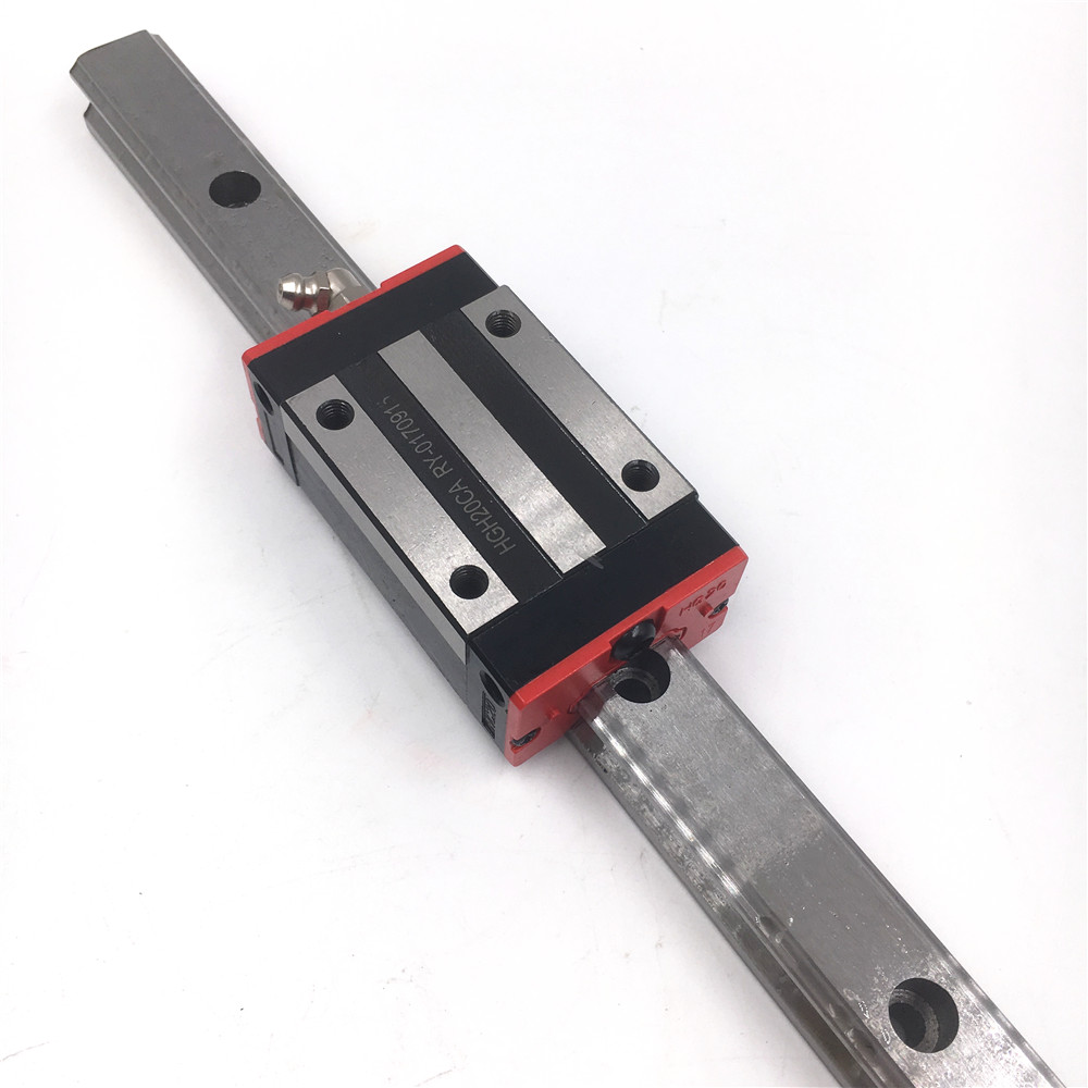 Length 1000mm Linear Guideway HGR20 20mm Linear Rail Guide + 2pcs Square Rail Carriage Block HGH20CAZAC Replacement for HIWIN ball linear rail guide roller shaft guideway toothed belt driven