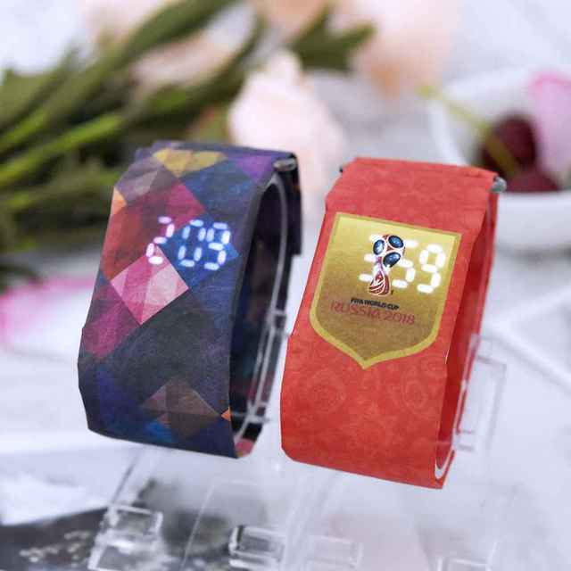 2020 Trendy DIGITAL LED Watch Paper Water/Tear Resistant Watch Perfect Gift 14 Variants  2