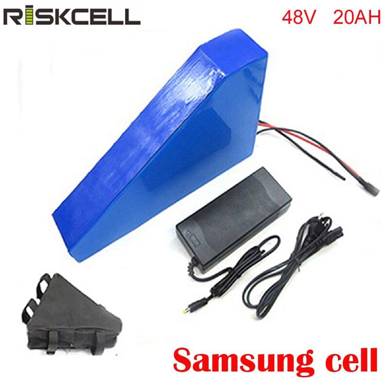 Batterie e-bike 48 V 20Ah triangle batterie 1000 W 48 volts li-ion 18650 batterie pour moteur 8fun 750 W