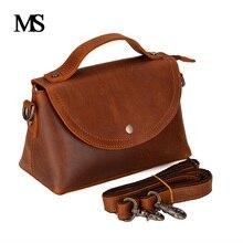 MS  2017 New Arrival Vintage Genuine Leather Women Handbags Fashion Crossbody Bags Female Handbag Trend Bag Bolsas TW2014