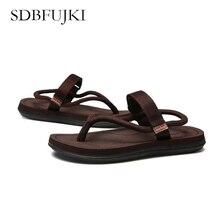 Summer Shoes Sandals Men Beach Slippers Men Flip Flops Black Outdoor Beach Sandals Casual Anti-skid  Male sandals Size 5-11