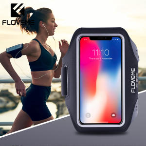 FLOVEME Universal Mobile Phone Cycling Arm band Case For iPhone