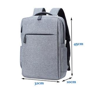 Image 5 - Erkekler Laptop çantası 17 dizüstü bilgisayar Laptop sırt çantası 17 inç büyük sırt çantası USB öğrenci sırt çantaları evren erkek 17 inç dizüstü bilgisayarlar