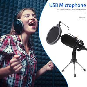 Image 3 - USB Microfono Wired Microfono A Condensatore da Studio Microfono con il Basamento Della Clip per il Supporto PC Dropshipping