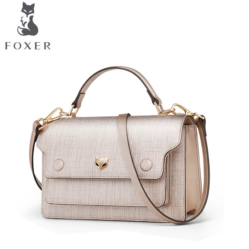 FOXER brand bags for women 2018 new women leather bag fashion luxury tote small bag designer women handbags shoulder leather bag 2018 new foxer women leather bag fashion luxury small bags women famous brand designer shoulder bag handbags