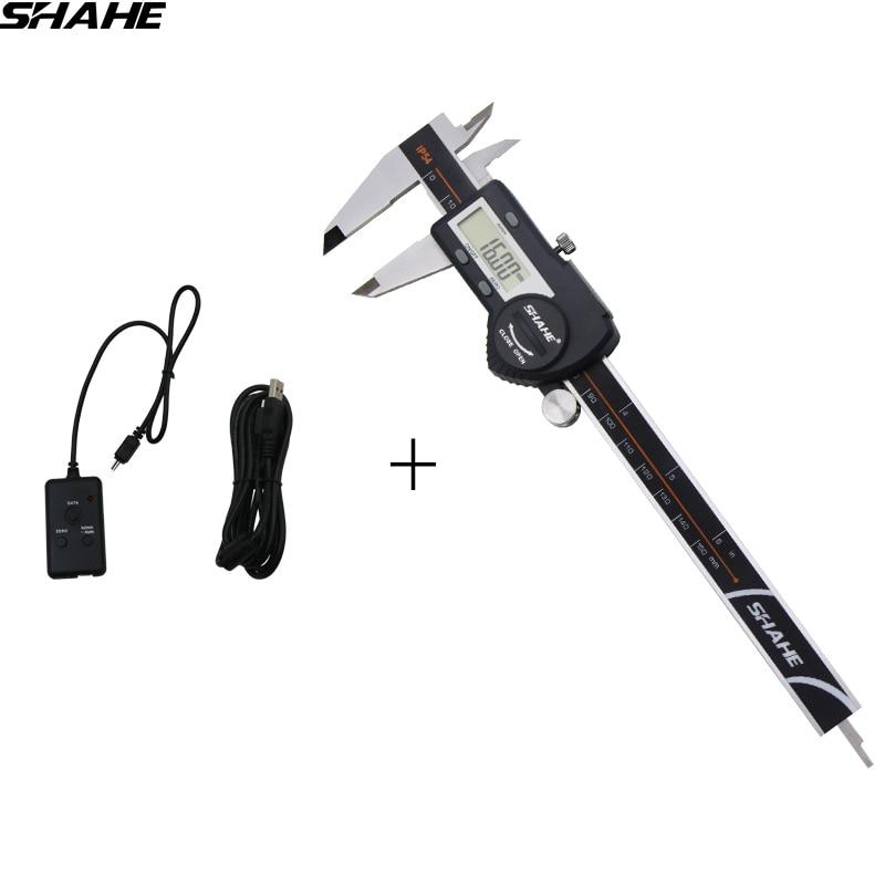 150 mm digital caliper stainless steel with USB data cable micrometer vernier caliper paquimetro digital