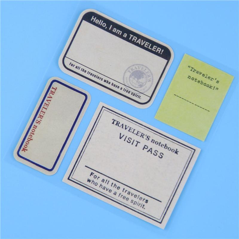 vintage travel paper stickers