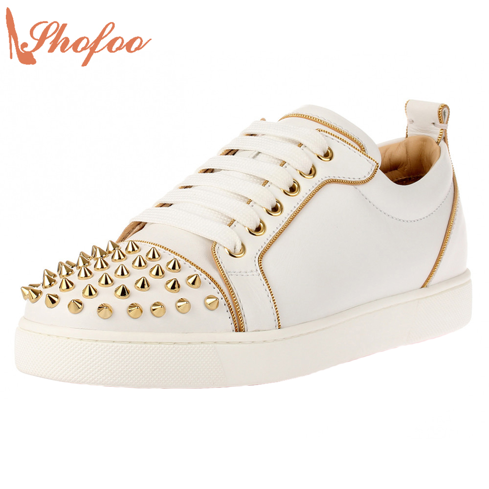 Stan Superstar Shoes Top Quality 2017 Autumn White Black Flats Rivet Loafers Shoes Casual School Taylor Shoes Size 33 Shofoo romyed bridals wedding shoes kim kardashian pumps superstar shoes top quality flowers evening christian shoes size 4 16 shofoo