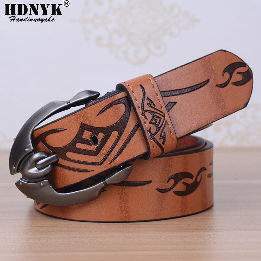 Hot Designer Cool Design Luxury Belts Men Belts Male Waist Strap Faux Cowskin Men Leather Belt Pin Buckle Ceinture Femme