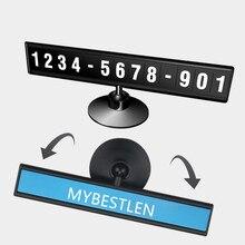 Auto di Parcheggio Temporaneo Del Telefono doppio Numero di Carta Piastra vortice Magnetico Di Puzzle Adesivo Auto Car Styling Accessori Auto