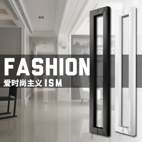 Modern, Simple Fashion Stainless steel,Square tubular glass door handle, bathroom wooden doors handle, home hardware bronze glass door handle modern european luxury stainless steel door handle chinese antique wooden door handles