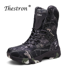 Autumn/Winter Casual Shoes Men Camo Military Combat Boots Mens With Fur Outdoor Desert Rubber Non-Slip Tactical