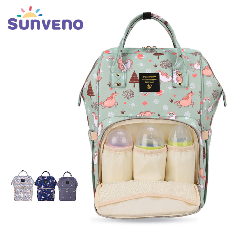 SUNVENO Mommy Diaper Bag Large Capacity Baby Nappy Bag Designer Nursing Bag Fashion Travel Backpack Baby Care Bag for Mother Kid mommy care органическое мыло 200 мл