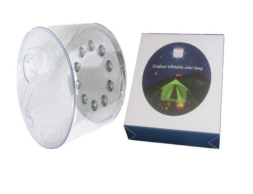 Лидер продаж 10LED кемпинг Солнечный складной надувной Портативный свет лампы для сада-Ярда Солнечный свет на открытом воздухе