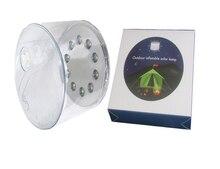 Лидер продаж 10 светодио дный кемпинг Солнечный складной надувной Портативный свет лампы для сада-Ярда светодио дный Солнечный свет открытый