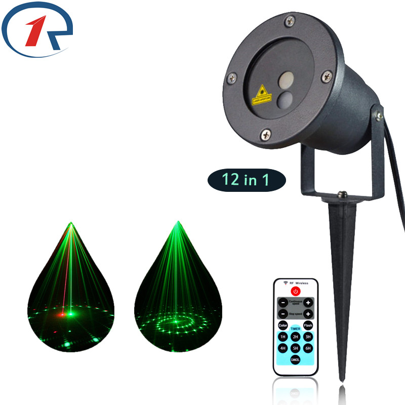 ФОТО ZjRight IR Remote 12 pattern Red Green laser light waterproof outdoor projection laser stage light bar ktv dj disco effect light