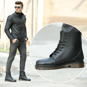 KESMALL ผู้ชาย PVC Rain Boots รองเท้า Lace-up รองเท้าบูทข้อเท้ารองเท้ากันลื่น Rainboots กันน้ำผู้ชายรองเท้า Botas WS287 - DISCOUNT ITEM  39% OFF All Category