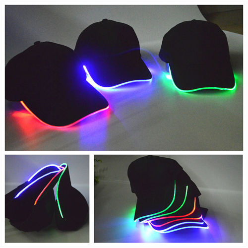NEW LED Lighted Adjustable Sports Hats Glow Club Party Baseball Hip-Hop Golf Luminous Cap