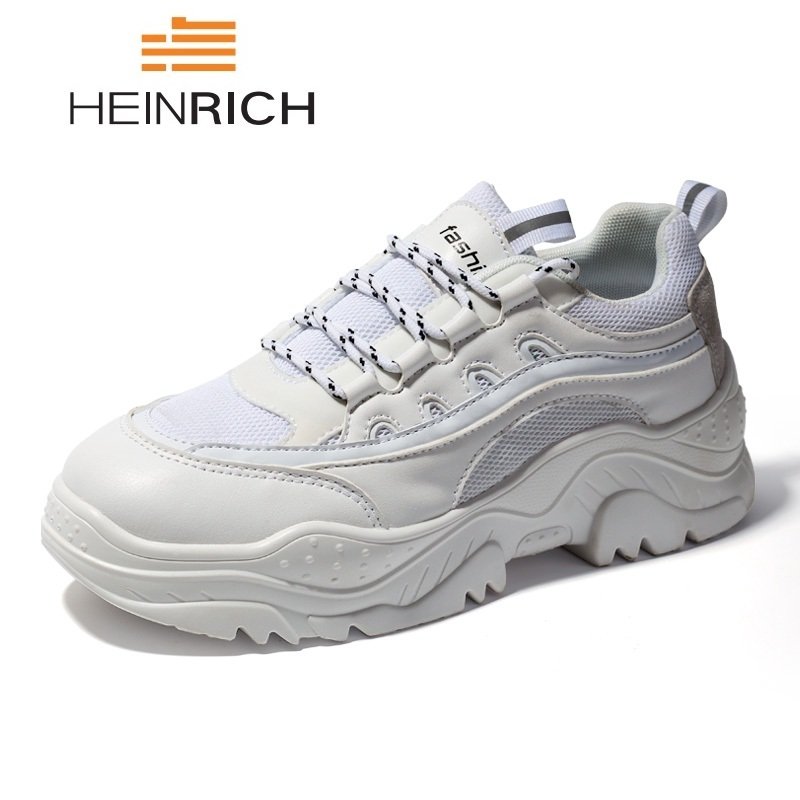HEINRICH Men Sneakers Luxury Brand Mens Thick Sole Shoes Breathable Men's Casual Shoes Outdoor Mens Trainers Shoes Sapatos