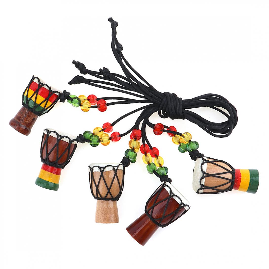 1pcs jambe drummer individuality djembe pendant percussion musical instrument necklace african. Black Bedroom Furniture Sets. Home Design Ideas