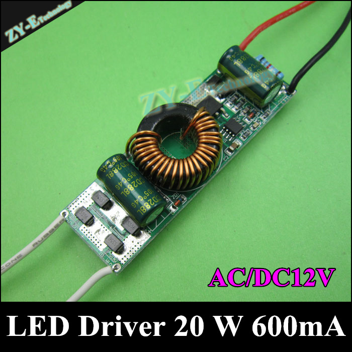 Beautiful 2pc/lot Led Driver 20 W Input Ac/dc12-24v,600ma Power Supply Led Lighting Transformer 20w 10 Series 2 Parallel Driver Freeshippi Smoothing Circulation And Stopping Pains Lights & Lighting