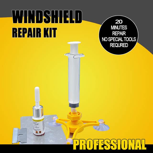 Sikeo Automobile windshield repair kit tool auto glass For Chip Crack  DIY Windscreen Repair Tool Sets