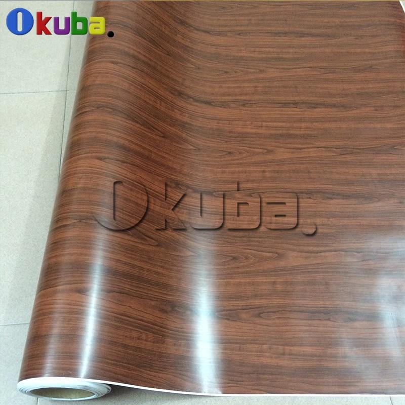 Chêne Auto vinyle Grain de bois vinyle Wrap pleine voiture Wrap style graphique PVC Camo Film bois autocollants 1.52X20 m/rouleau