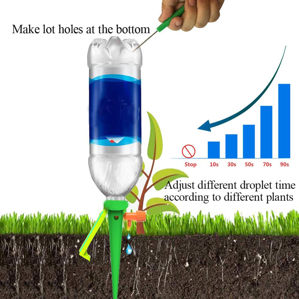 Image 4 - 10pcs New Watering Kits Self Automatic Plant Watering Spikes Adjustable Stakes Irrigation System Watering Device for Houseplant-in Watering Kits from Home & Garden