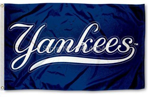 New York NY Yankees Flag150X90CM 3X5FT Banner 100D Polyester grommets custom009, free shipping ...