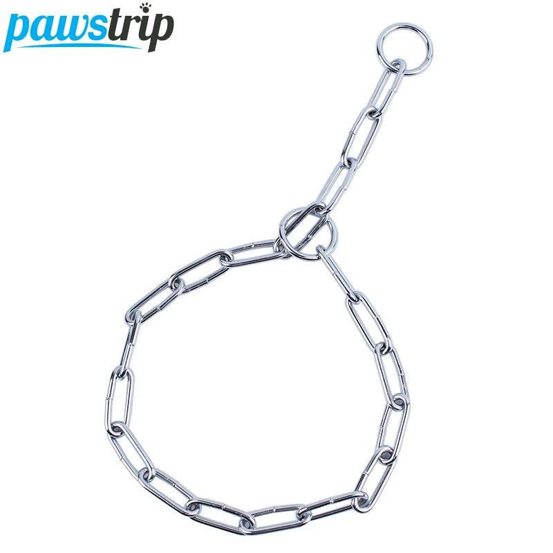 3 Size Carbon Steel Dog Collar Chain Adjustable Training font b Pet b font Pinch Dog