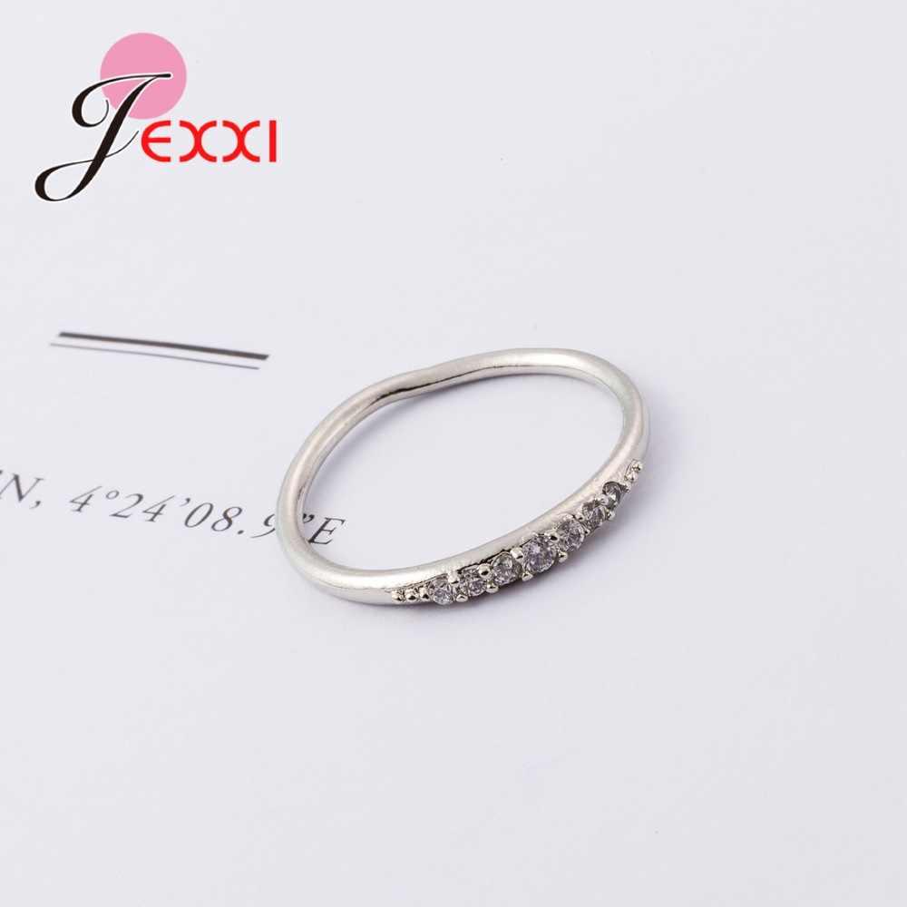 ใหม่แฟชั่น Shinning Rhinestone ขนาดเล็ก Superfine 925 เงินสเตอร์ลิงแหวนครบรอบนำเสนอแฟชั่น Elegant Design