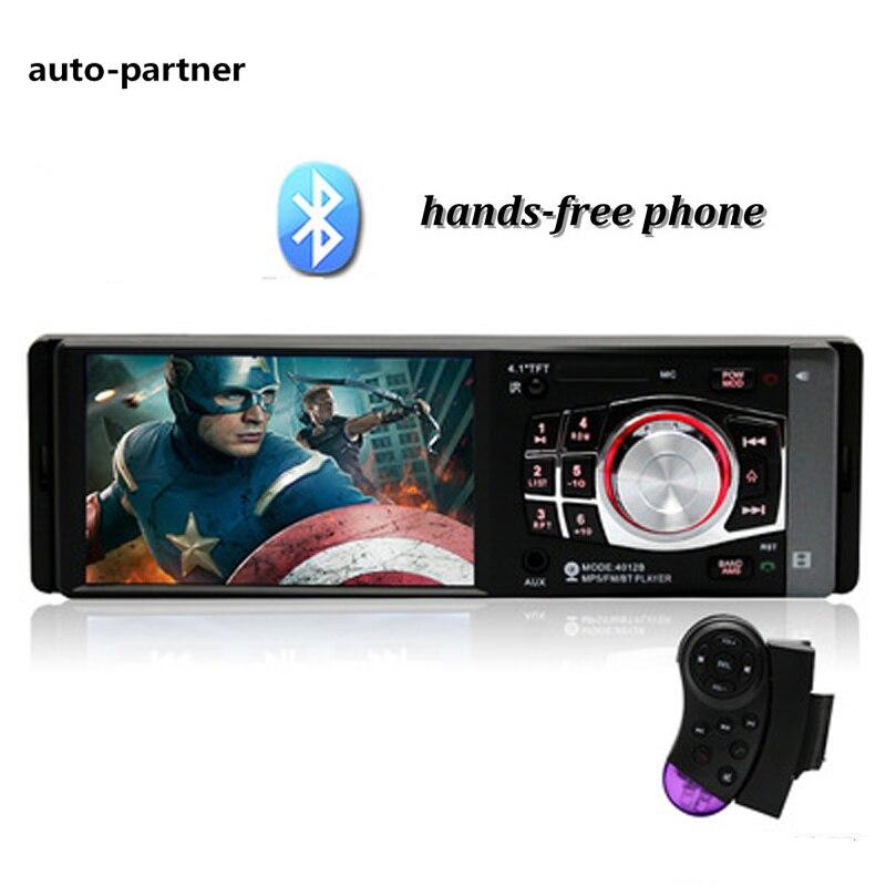 цена на 12V 4.1 inch Car Radio BLUETOOTH Stereo Audio In-dash FM Receiver Aux Input Receiver USB/SD MP3 In Dash 60Wx4 4012B