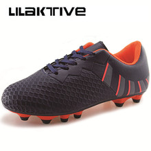 Professional kids spike soccers shoes boys outdoor breathable athletic sneakers Original boy football kid sports