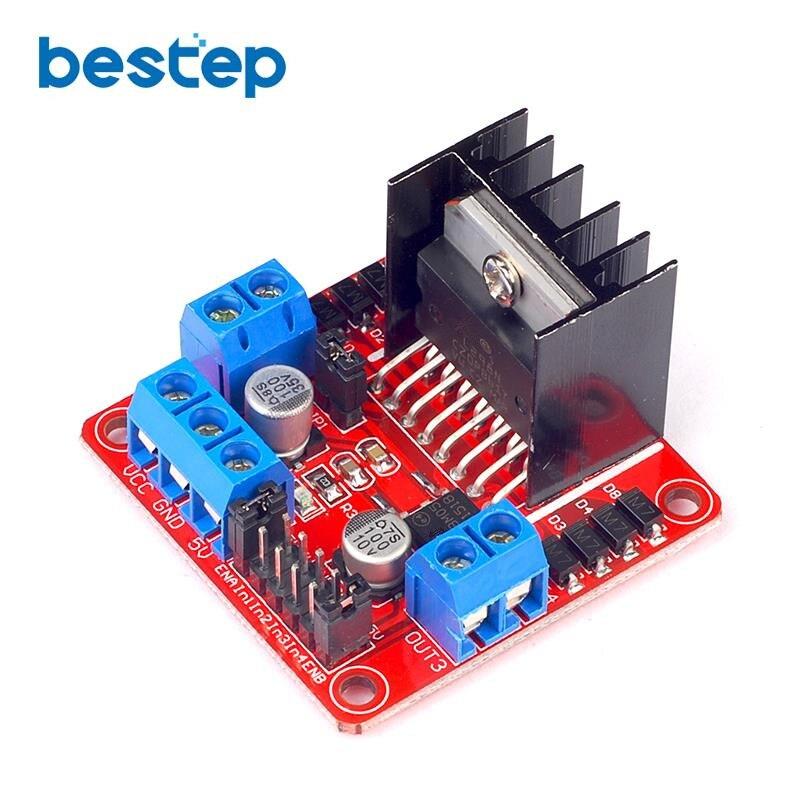 1 шт. Новый L298N Двойной Н Мост постоянного тока Драйвер шагового двигателя плате контроллера Модуль для ООН R3 Raspberry Pi Starter DIY Kit ...