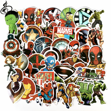 NEW 50pcs/set Creative cartoon sticker American captain high quality waterproof PVC stickers For Suitcase decals