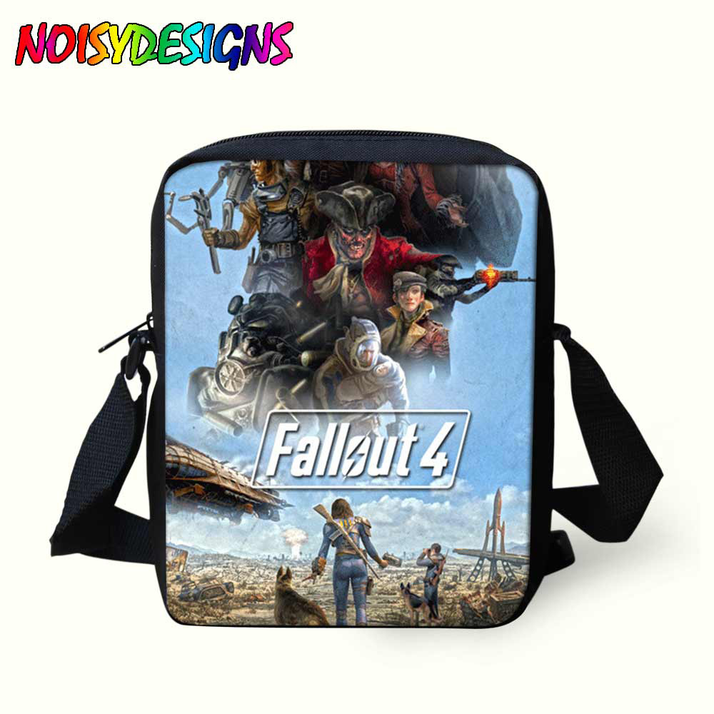 Fallout Poster Messenger Bags School Bags Porte bag Kids Boys Girls mochila  Bolsa Crossbody Game Letter Print Shoulder Bag -in Crossbody Bags from  Luggage ... 532a34cec0aec