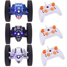 2.4G RH803 Bounce Stunt Car Jumping Car RC Toys with LED Light Music Remote Control Robot Car Toys Kids Birthday Christmas Gift