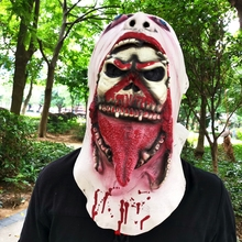 1PC Halloween Mask Super Horror Zombie Latex Festive Party Supplies Dress Up Props Decorative