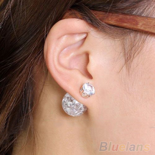 Lower Price with Womens Transparent Faux Pearl Beads Crystal Rhinestone Ear Studs Earrings 4psk Preventing Hairs From Graying And Helpful To Retain Complexion Jewelry & Accessories Stud Earrings