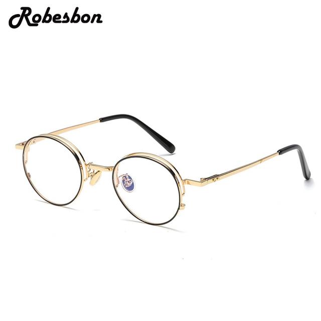 936fb4024fb New Fashion Women Round Gold Glasses Frames for Men Classic Optical  Eyeglasses Frames Women Best Fashion Glasses
