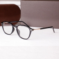 Brand Designer Acetate Retro Optical Spectacles Eyeglasses Frames Men Vintage Clear Lens Round Glasses Frame Women Eyewear TF