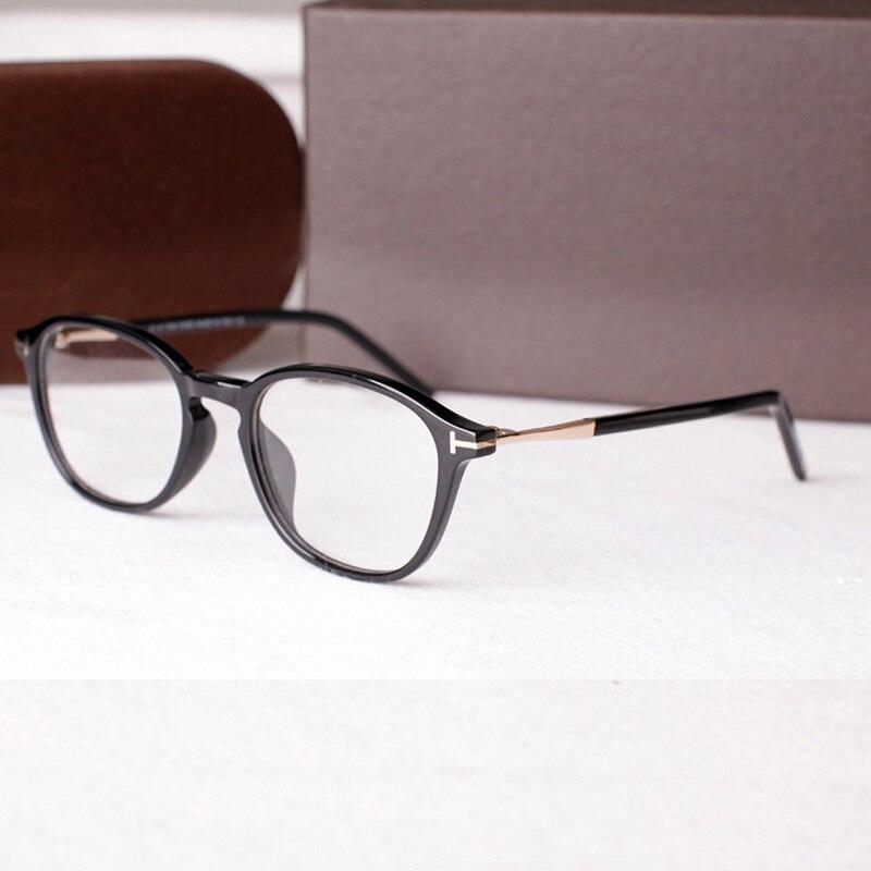 Marque Designer acétate rétro optique lunettes lunettes cadres hommes Vintage clair lentille ronde lunettes cadre lunettes pour femme TF