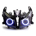 KT Headlight for Yamaha T-Max TMAX 530 2012-2014 LED Angel Halo Eye Motorcycle HID Projector Assembly 2013