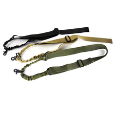 Tactical Gun Sling Adjustable 1 Single Point Bungee Quick Release Rifle System Strap Hook Airsoft Hunting Paintball Accessories tactical hunting gun sling adjustable 1 single point bungee rifle sling strap system new 3 colors