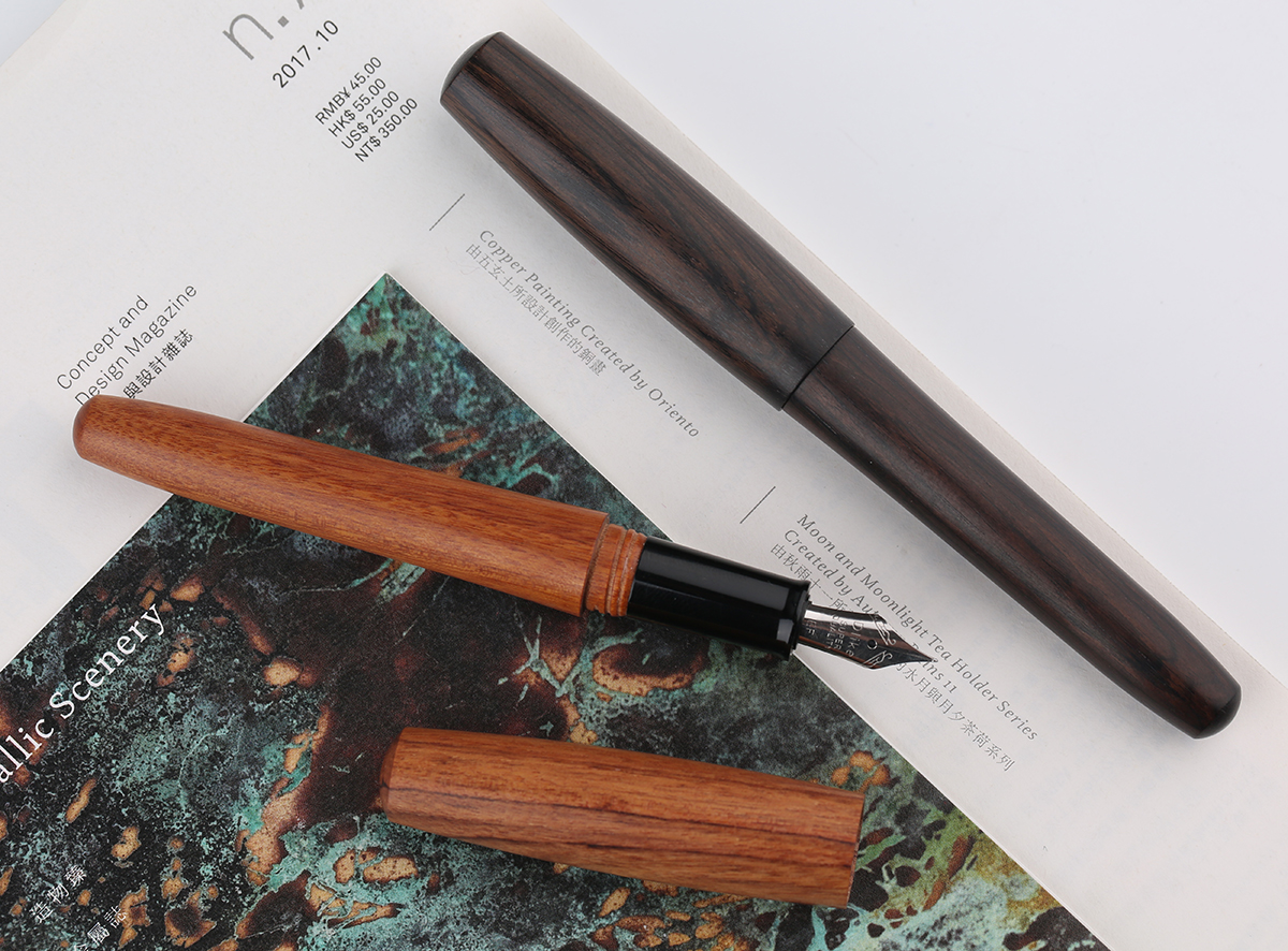 Moonman Natural Redwood Handmade Fountain Pen Full Wood Beautiful Pen Extra Fine Nib Fashion Writing Gift Set Supplies
