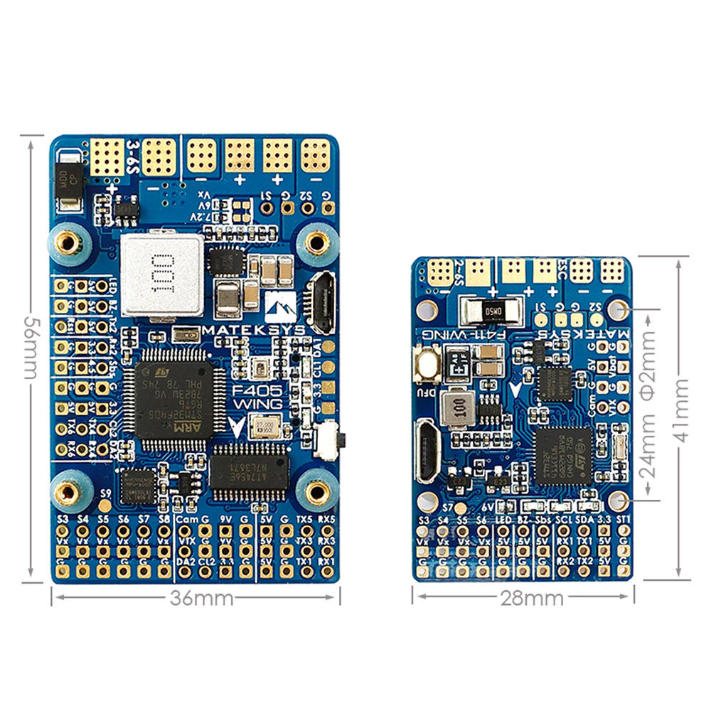 Matek font b Systems b font F411 WING New STM32F411 Flight Controller Built in OSD for