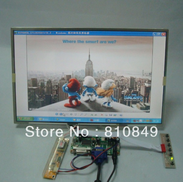 DVI+VGA Control board+15.4inch 1280*800 LP154WX3 N154I3 LTN154W1  B154EW01 Lcd panel 8 4 8 inch industrial control lcd monitor vga dvi interface metal shell open frame non touch screen 800 600 4 3
