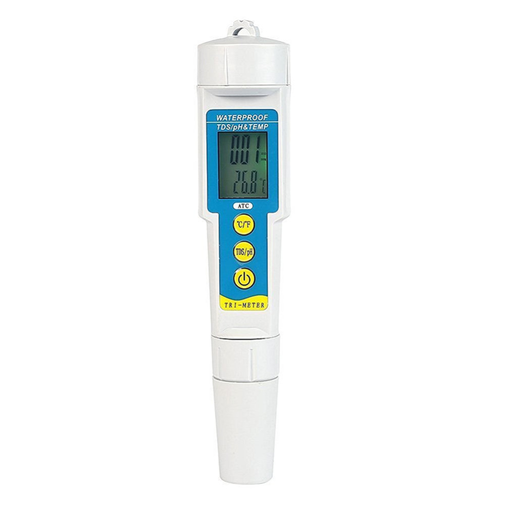 3-in-1 PH Meter 0-14.00pH+0-19990us/cm Digital TDS EC Meter 0-50C Temperature  Instrument Water Tester Tool digital indoor air quality carbon dioxide meter temperature rh humidity twa stel display 99 points made in taiwan co2 monitor